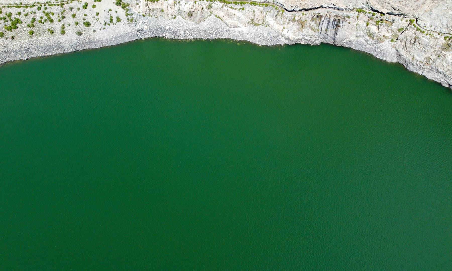 خرفق جھیل کی اونچائی 10 ہزار فٹ ہے
