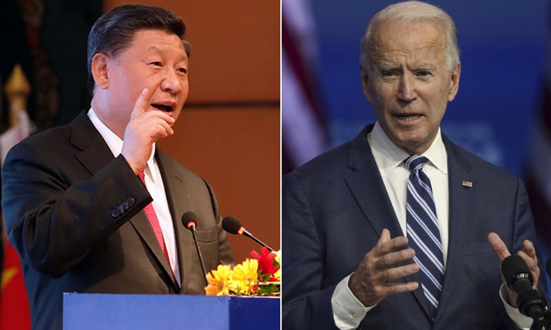 A combination photo of Chinese President Xi Jinping (L) and US President Joe Biden (R). — AFP/AP