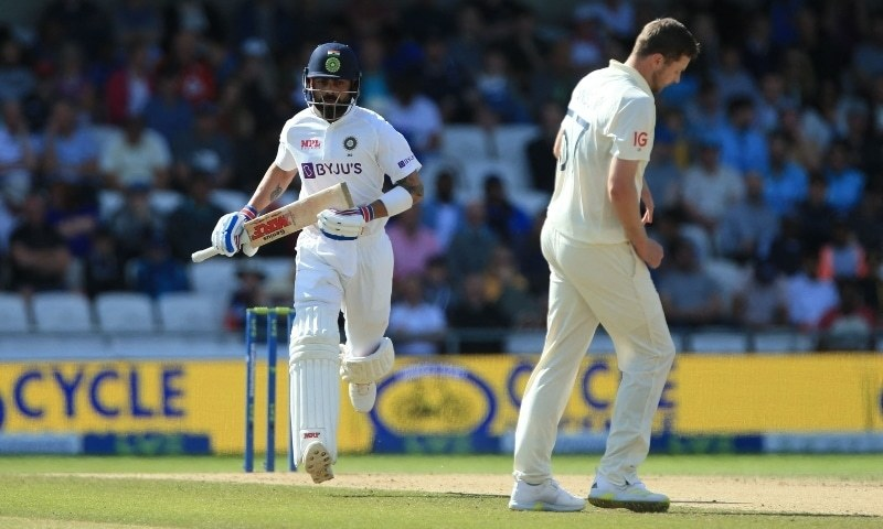 India's Ajinkya Rahane (L) in action on the fourth day of the third cricket Test match between England and India at Headingley cricket ground in Leeds on August 28. — AFP/File