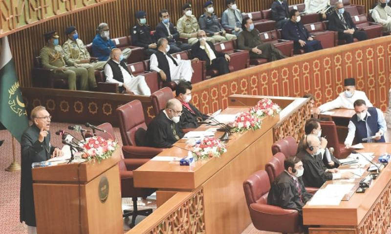 پارلیمنٹ کا مشترکہ اجلاس: رپورٹرز کا صدر کے خطاب کے بائیکاٹ کا اعلان