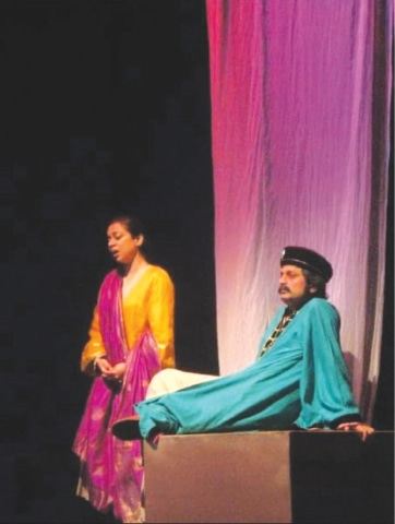 Saife during his theatre days