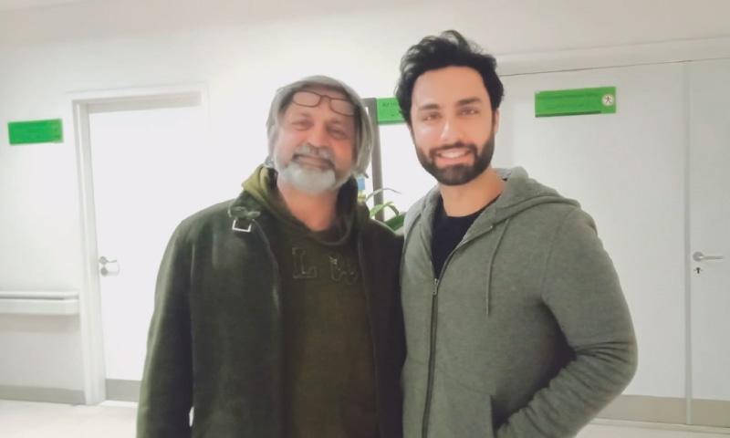 With actor Ahmad Ali Akbar