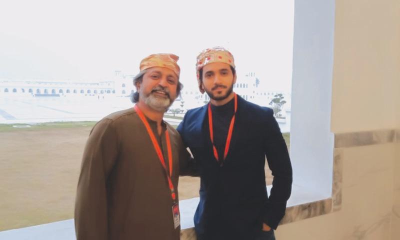 Saife Hassan with actor Wahaj Ali