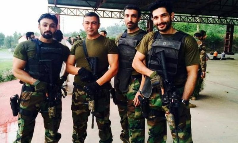 A picture from the set of Yalghaar that the Indian ex-officer mistook for an actual photo of Pakistani soldiers. — Twitter