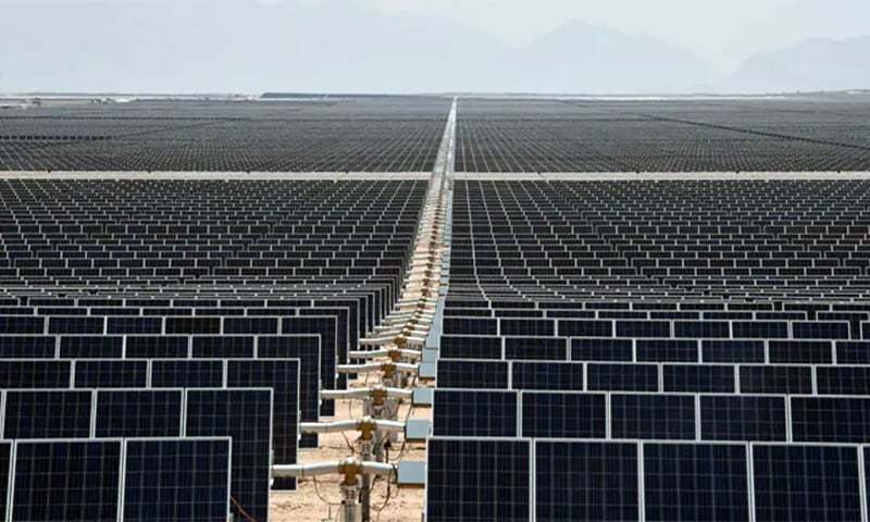 Per industry estimates, around 3,500MW capacity of photovoltaic panels have been imported into Pakistan in the last 10 years. — AFP/File