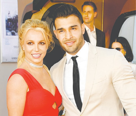IN this file photo Britney Spears and Sam Asghari arrive at the premiere of Once Upon A Time...In Hollywood at Hollywood's Chinese Theatre on July 22, 2019.—AFP