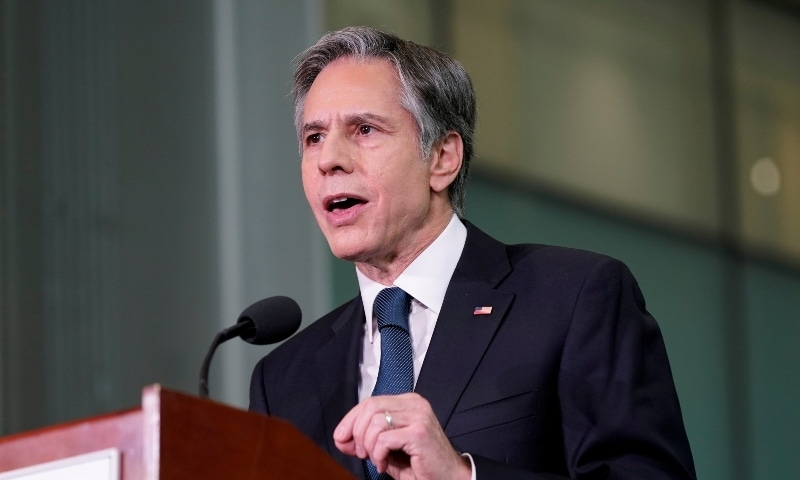 The United States will be looking at its relationship with Pakistan in the coming weeks, US State Secretary Antony Blinken said on Monday. — Reuters