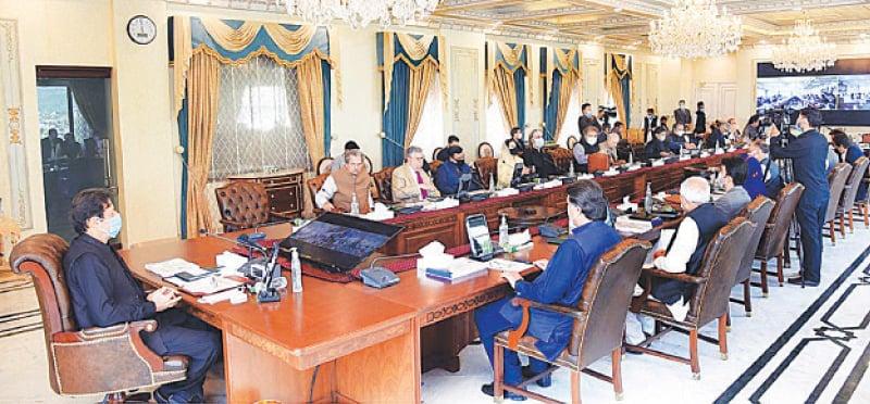 PRIME Minister Imran Khan chairing the meeting.—APP