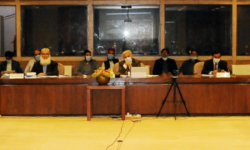 In this file photo, PAC Chairman Rana Tanveer Hussain chairs a committee meeting at Parliament House. — Photo courtesy PAC website/File