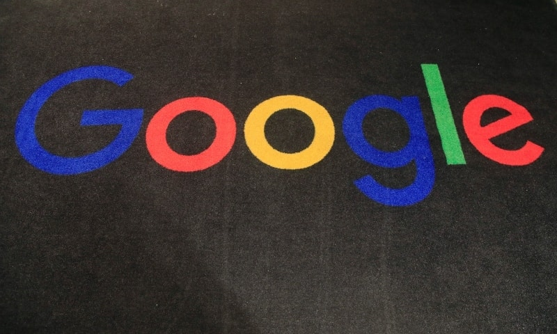 In this file photo, he logo of Google is displayed on a carpet at the entrance hall of Google France in Paris. — AP