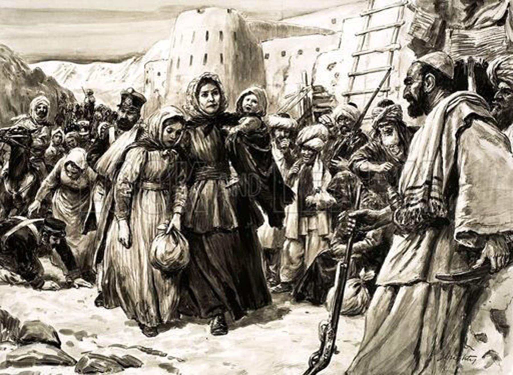 برطانوی فوج کی شکست کے بعد لیڈی سیل کی کابل آمد
