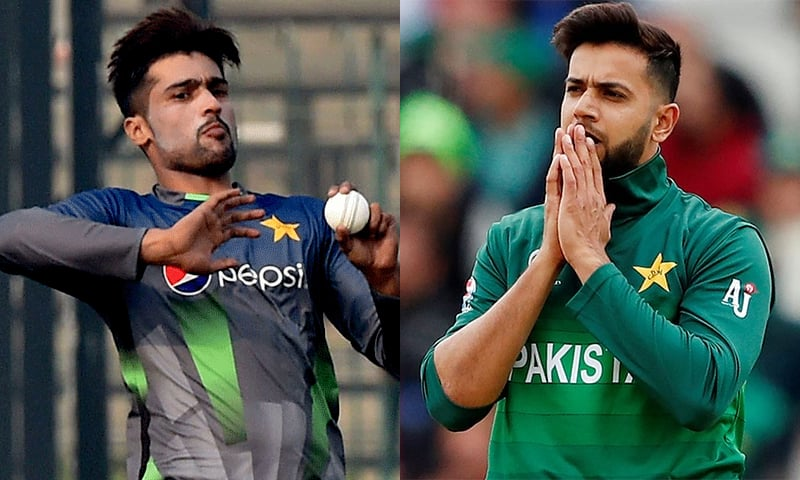 Mohammad Amir (L) and Imad Wasim. — AFP/File and Reuters/File