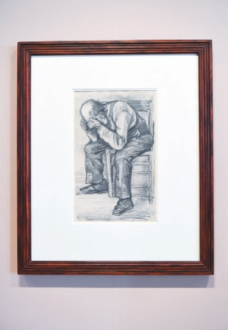 THE VAN Gogh museum unveils Worn Out, an unseen work by the artist, in Amsterdam on Thursday.—Reuters
