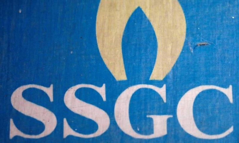 The logo of Sui Southern Gas Company Limited (SSGC) is seen on its customer service office in Karachi. — Reuters