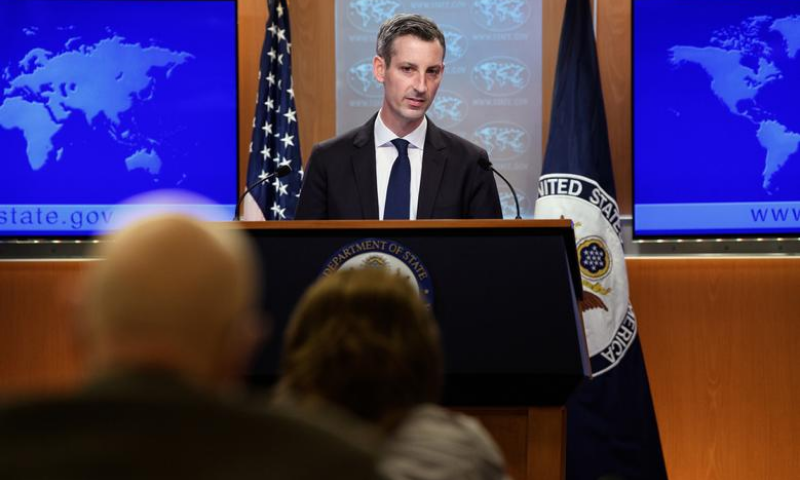 In this file photo, US State Department spokesperson Ned Price addresses a press briefing on February 2, 2021. — Reuters/File