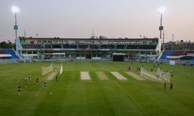 نیوزی لینڈ کی ٹیم  نے کئی دن راولپنڈی اسٹیڈیم میں پریکٹس بھی کی— تصویر: اے پی