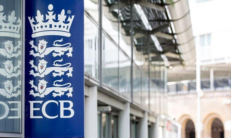 A banner of the England and Wales Cricket Board is pictured in this photo. — Photo courtesy ECB Twitter