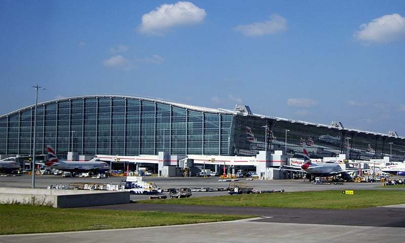 A view of the Heathrow Airport in London. — Wikimedia Commons