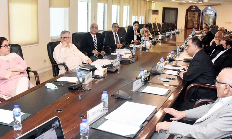 Finance Minister Shaukat Tarin presides over a joint meeting of the Steering Committee and Advisory Board of the Kamyab Pakistan Programme. — Photo courtesy PID website