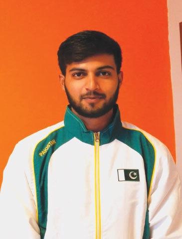 Gulfam in action at the Tokyo Olympics Shooting Range. Inset: Gulfam Joseph