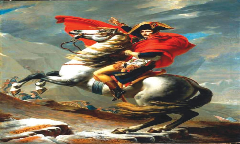 Napoleon Crossing the Alps by David Jacques Louis