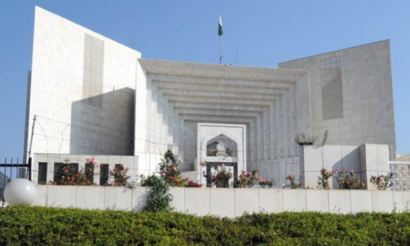 A file view of the Supreme Court building in Islamabad. — AFP