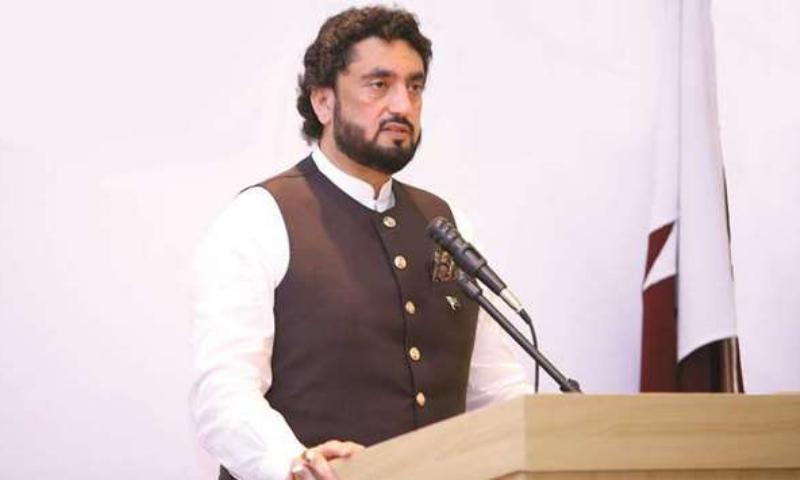 Chairman of the Parliamentary Committee on Kashmir Shehryar Khan Afridi met Kashmiri rights activists in New York. — Photo courtesy Radio Pakistan/File