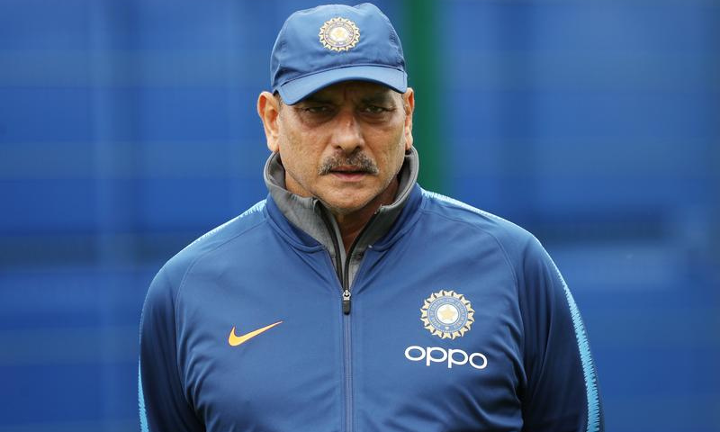 India coach Ravi Shastri is seen during nets. — Reuters/File