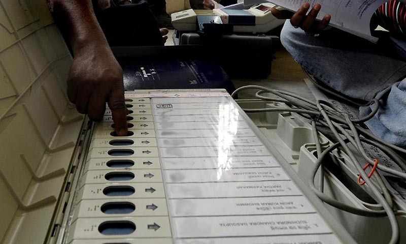 The induction of electronic voting machines in the next general elections is a costly proposition. — AFP/File