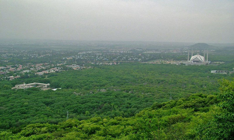 This file picture shows an aerial view of Islamabad, the federal capital of Pakistan.