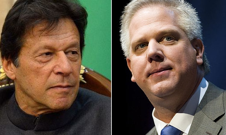 A combination photo of Prime Minister Imran Khan (L) and US television host Glenn Beck (R). — PM's Facebook/ Reuters