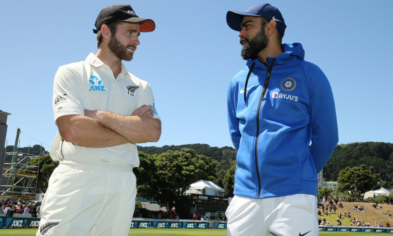New Zealand's Kane Williamson talks to India's Virat Kohli after New Zealand beat India in a test match at Basin Reserve, Wellington, New Zealand in February 2020. — Reuters/File