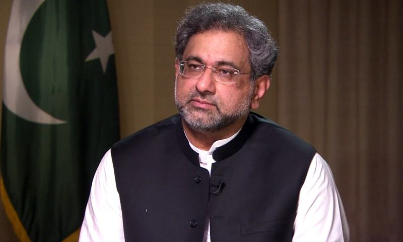 This file photo shows former prime minister and PML-N leader Shahid Khaqan Abbasi during an interview with CNN's Christiane Amanpour.— Photo courtesy CNN/File