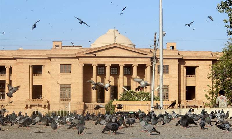 A two-judge bench headed by Chief Justice Ahmed Ali M. Sheikh took up for hearing a set of petitions regarding holding LG elections in Sindh. — Wikimedia Commons/File