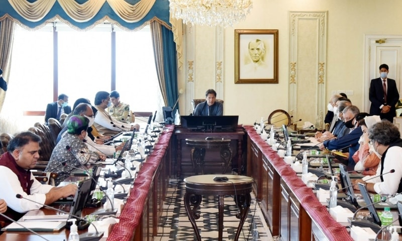 Prime Minister Imran Khan chairs a meeting of the federal cabinet on Tuesday. — Photo courtesy: PID