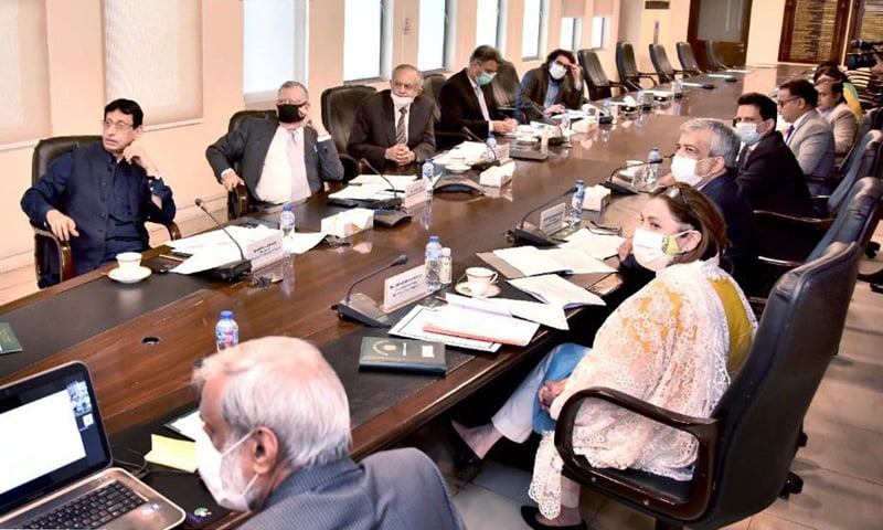 Finance Minister Shaukat Tarin holds a meeting with  stakeholders on the establishment of Pakistan International E-payment Gateway. — Photo courtesy PID website