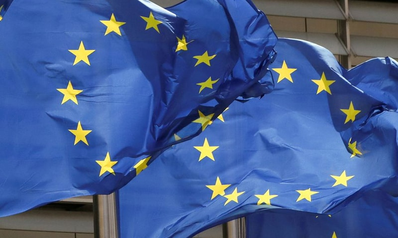 European Union flags flutter outside the EU Commission headquarters in Brussels, Belgium in this file photo. — Reuters/File