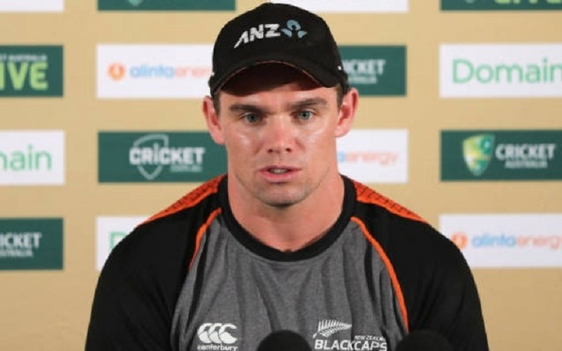 In this file photo, New Zealand Captain Tom Latham is seen addressing a press conference. — AFP/File