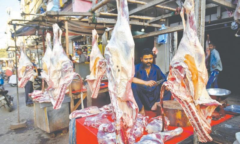 Meat shop at Burns Road in Karachi.—Fahim Siddiqi / White Star