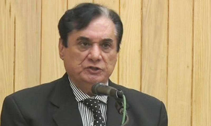 A file photo of National Accountability Bureau chairperson  retired Justice Javed Iqbal. — DawnNewsTV/File