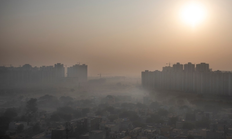 In this 2020 file photo,  morning haze envelops the skyline on the outskirts of New Delhi. — AP