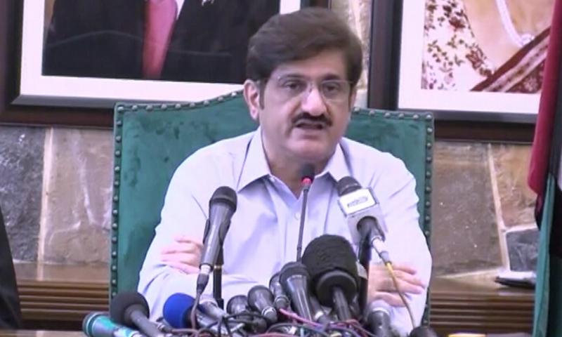 This file photo shows Sindh Chief Minister Murad Ali Shah. — DawnNewsTV/File