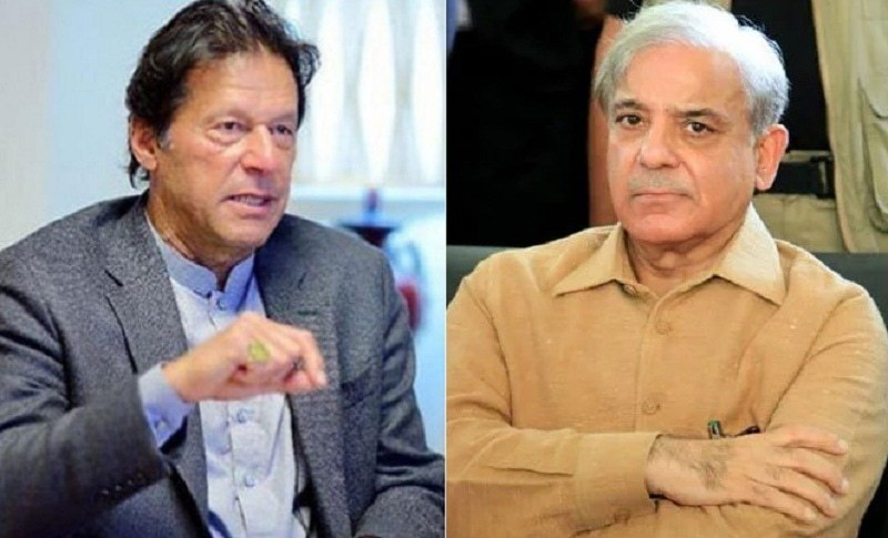 A combination photo of Prime Minister Imran Khan (L) and Opposition Leader in the National Assembly Shehbaz Sharif (R). — Dawn/File