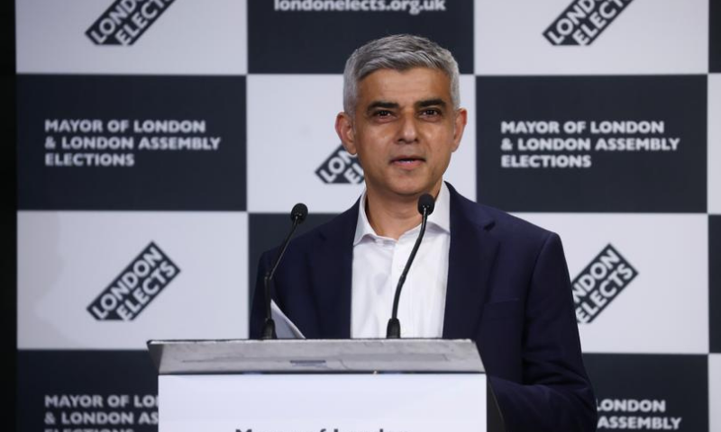 London Mayor Sadiq Khan speaks at the City Hall in London, Britain in this file photo. — Reuters