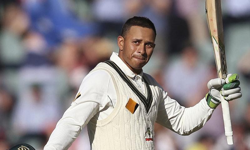 In this Nov. 25, 2016 file photo, Australia's Usman Khawaja celebrates making 100 runs against South Africa during their cricket test match in Adelaide, Australia. — AP/File