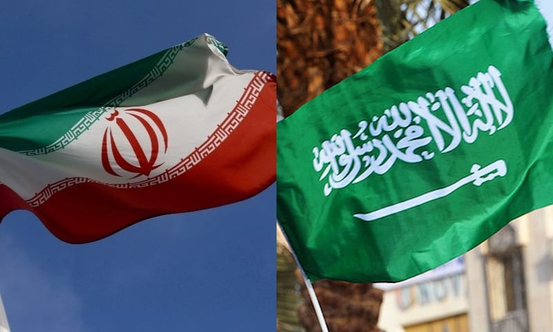 The Iranian and Saudi Arabian flags are pictured in this combination photo. — Reuters/File and AFP/File