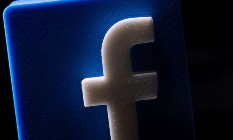 A 3D printed Facebook logo is seen in this illustration picture taken on May 4. — Reuters/File