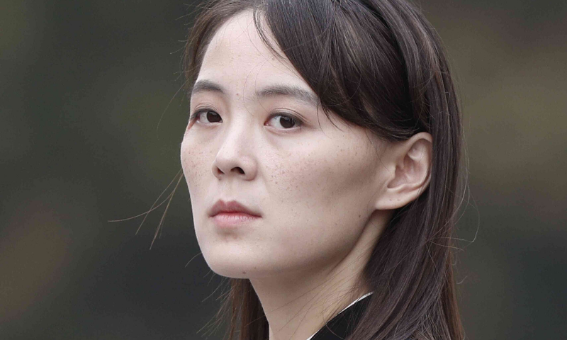 In this March 2, 2019, file photo, Kim Yo Jong, sister of North Korea's leader Kim Jong Un attends a wreath-laying ceremony at Ho Chi Minh Mausoleum in Hanoi, Vietnam. — AP/File