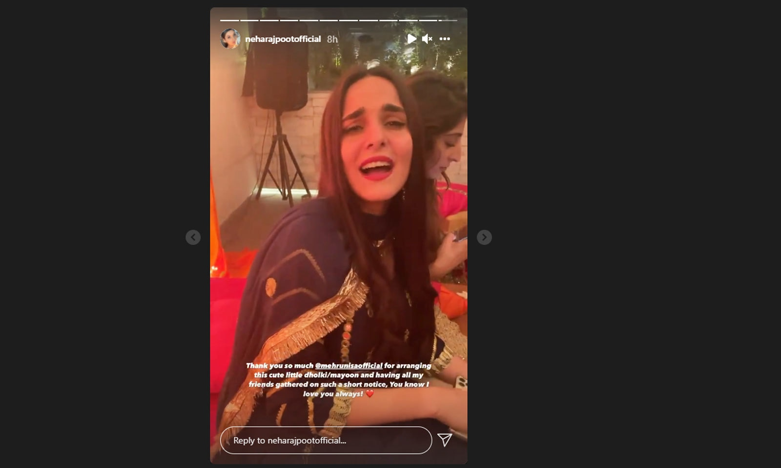 نیہا راجپوت نے انسٹاگرام اسٹوریز میں ویڈیوز اور تصاویر شیئر کیں—اسکرین شاٹ