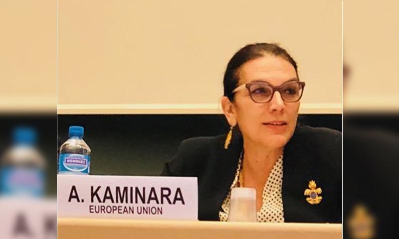 A file photo of European Union Ambassador to Pakistan Androulla Kaminara. — Photo courtesy Androulla Kaminara Twitter/File